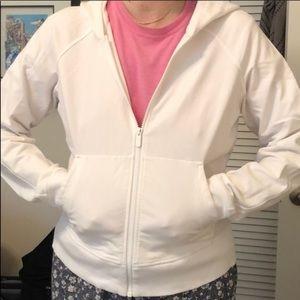 White Lululemon zip up Size 10